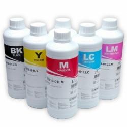 Чернила для L800, L805, L1800, L850, L810 (Epson Фабрика Печати, T6731-T6736), водорастворимые InkTec E0017, комплект 6 цветов по 1 литру