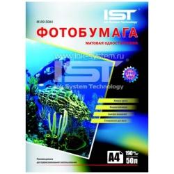 Фотобумага IST матовая односторонняя A6 (10x15), 220 г/м2, 50 листов