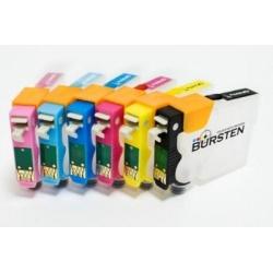 Перезаправляемые нано-картриджи Bursten Nano 2 для Epson Stylus Photo T50, T59, TX700W, TX650, TX659, TX710W, TX800FW, 1410, R270, R290, R295, R390, RX590, RX610, RX615, RX690