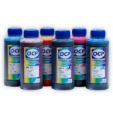 Чернила OCP для Epson R200, R220, R300, R320, R340, R500, R600, RX620, RX640, RX700, (водные), комплект 6 x 100гр