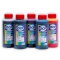 Чернила OCP для заправки Canon Pixma iP4200, iP4500, iP5200, MP610, iP4300, MP600, MP500, MP800, iP5300, MP810, MP830, MP530, iP100 для картриджей PGI-5/CLI-8, пигментные + водные, комплект 5 x 100 мл