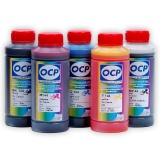 Чернила OCP для Canon  iP4840, iP4940, MG5140, MG5240, MG5340, MX894, iP3600, MP550, MP540, iP4600, iP4700, MP640, MP630, MP560, MX870, MP620, MX860, iP4880, водные + псевдопигмент SAFE SET, комплект 5 x 100 мл