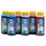 Чернила OCP для HP Designjet 130, 90, 130NR, 30 (HP84, HP85) водорастворимые, комплект 6 x 100 г.