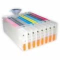 Перезаправляемые картриджи (ПЗК/ДЗК) для плоттеров Epson Stylus Pro 7880, 9880, 8 x 350 мл с чипами