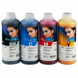 Комплект сублимационных чернил InkTec для Epson, Brother, Mimaki, Mutoh, Roland (DTI01-DTI04), 4 x 1 литр (4 цвета CMYK SubliNova Smart)