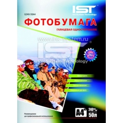Фотобумага IST глянцевая односторонняя, A3 (29,7x42), 230 г/м2, 50 листов