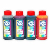 Чернила OCP для Canon Pixma  iP2840, MG2440, MG2540, MG2940, MG3040, MG2540S, MX494, TS3140, TR4540, Efficiency E414, E474, E404, E464, E484, E514 (картриджи PG-445/545/XL, CL-446/546/XL, PG-46/84, CL-56/94), пигмент + водные, комплект 4 x 100 мл