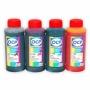 Чернила OCP для Canon Pixma  iP2840, MG2440, MG2540, MG2940, MG3040, MG2540S, MX494, TS3140, E414, E474, Efficiency E404, E464, E484, E514 (картриджи PG-445/545/XL, CL-446/546/XL, PG-46/84, CL-56/94), пигмент + водные, комплект 4 x 100 мл