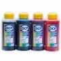 Чернила OCP для HP Deskjet Ink Advantage 3525, 5525, 6525, 4625, 4615 (картриджи HP 655, 685), пигментные + водорастворимые, комплект 4 x 100 мл