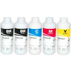 Комплект чернил InkTec для Canon MG5340, MG5140,  iP4940, iP4840, MG5240, iX6540,  MX884, MG6640, MX894, MG5150, MX714, iX6550, iP4850, iP4880, комплект 5 x 1 литр