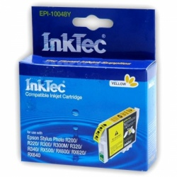 Картридж для Epson Stylus Photo R300, R220, R200, RX500, R320, RX620, R340, RX600, RX640 совместимый желтый InkTec EPI-10048Y (T0484) Yellow