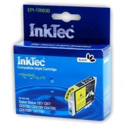 Картридж для Epson Stylus C67, C87, CX3700, CX4100, CX4700, CX7700 совместимый InkTec EPI-10063B (T0631) Black ( черный)