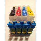 Перезаправляемые EURO-картриджи с чиповой рамкой и кнопкой обнуления для S22, SX120, SX125, SX130, SX230, SX235W, SX420, SX425W, SX430W, SX435W, SX438W, SX445W, BX305F, BX305FW, 4 шт