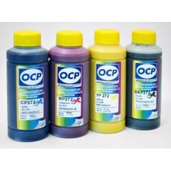 Чернила OCP для заправки HP DeskJet 2050, 1000, 1050, 1050a, 3050, 3050a, 2000, 3000, 2540, J110A, Envy 4500, Officejet 4630 (для картриджей HP 122, 61, 301, 802), пигмент + водные, комплект 4 x 100 мл