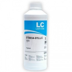Чернила светло-голубые Light Cyan для Epson 2100, 4000, 7600, 9600, 10600, InkTec E10034, analog UltraChrome, 1 литр