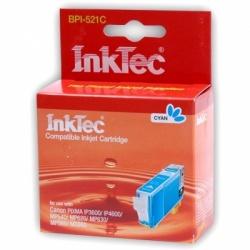 Картридж для Canon iP3600, MP550, MP540, iP4600, iP4700, MP630, MP640, MP560, MX870, MX860, MP620 голубой, совместимый InkTec, BPI-521C (CLI-521C)