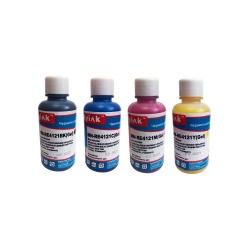 Чернила для Ricoh Aficio SG 2100N, 3100SNw, 3110DN, 3110DNw, 3110SFNw, 3120BSFNw, 7100DN (для GC 41K, 41С, 41M, 41Y / 41KL, 41СL, 41ML, 41YL), MyInk пигментные гелевые, комплект 4 цвета по 100 мл