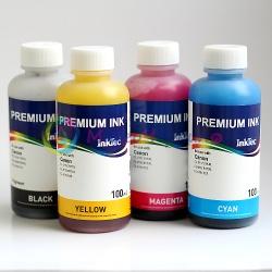 Комплект чернил для Canon Pixma MP250, MP230, iP2700, MP280, MP495, MP270, MP252, MP490, MP240, MP260, MP282, MX320, MX410, MX360, MP272, MP492, MX420, MX340, MX330, MX350, MP480 InkTec C2010-C2011, пигментные и водорастворимые, 4 х 100 мл