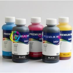 Комплект чернил для Canon Pixma MG5340, MG5140, iP4940, iX6540, iP4840, MG5240, MX884, MX894, MX714, MG5150, MG5250, iX6550, iP4850, iP4880, InkTec, пигментные + водорастворимые, 5 х 100 мл