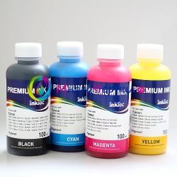 Комплект пигментных чернил InkTec для Epson Stylus CX3800, C88, CX4200, CX5800, CX3810, CX4800, CX5800F, CX7800, DX4800, DX4850, DX4200, DX3800, DX3850, D68, D88  пигмент, Южная Корея, 4 x 100 г.