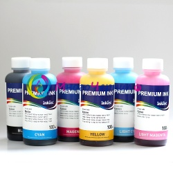 Чернила для L800, L805, L1800, L850, L810 (Epson Фабрика Печати, T6731-T6736), водорастворимые InkTec E0017, комплект 6 цветов по 100 мл