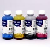 Комплект чернил для Canon Pixma MG2440, MG2540S, MG3040, iP2840, MG2540, TS3140, TS3340, TS3440, TS5340, TS7440, TR4540, MG2940, MG2545S, MX494, TS304, TS204 (картриджи PG-445, CL-446, PG-460, CL-461), InkTec пигментные + водные, 4 цвета по 100 мл