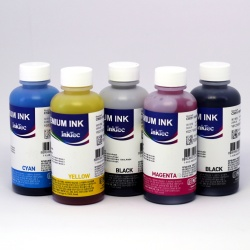 Комплект чернил для Canon iP7240, MG5540, MX924, MG6440, MG5440, iX6840, MG5640, MG6640, iP7250, MG5550, MG6450, MX925, MG5450, MG6400, MG5420, MG6650, InkTec C5050/C5051 (пигментные + водные), 5 х 100 мл