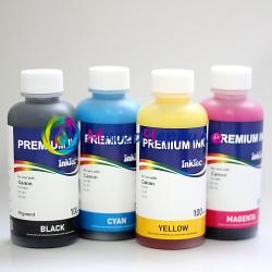 Комплект чернил для Canon PIXMA MP520, iP3500, iP3300, iX4000, MP510, iP90, iP90v, MX700, iX5000, InkTec, пигмент+фоточернила, 4 х 100 мл