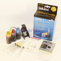Заправка для HP Deskjet 5150, D2360, 3845, 3420, 3325, 3550, D1360, D2460, 3920, D1560, 5550, 450, 3320, 5652, 3740, HP Psc 2175, 2410, 2110, HP Photosmart 7350, 7150, набор для заправки цветных картриджей HP 22, HP 28, HP 57  InkTec HPI-0006C