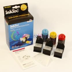 Заправка для HP OfficeJet 7000, 6000, 7500a, 6500, 6500a , набор для заправки цветных картриджей HP 920, HP 920XL, InkTec HPI-6920C