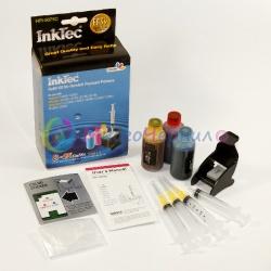 Заправка для HP Photosmart C4283, C5283, C4483, C4343, C4583, D5363, DeskJet D4263, D4363, Officejet J5783, J6413, набор для заправки цветных картриджей HP 141, HP 141XL, InkTec HPI-5075C