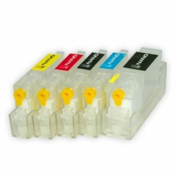 Перезаправляемые нано-картриджи Bursten Nano 2 для Canon PIXMA MG5340, MG5140, iP4940, iX6540, iP4840, MG5240, MX884, MX894, MX714 с чипами