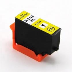 Картридж для Epson Expression Premium XP-6000, XP-6005, XP-6100, XP-6105 (совм. 202XL T02F4), совместимый, жёлтый Yellow