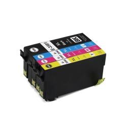 Картриджи для Epson WorkForce Pro WF-4720DWF, WF-4725DWF, WF-4730DTWF, WF-4740DTWF (T3591-T3594 35XL под регион Европа), совместимые, одноразовые, комплект 4 цвета