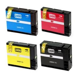 Комплект картриджей BPI-PGI2400 для Canon MAXIFY iB4040, iB4140, MB5040, MB5140, MB5340, MB5440, (совместимые с PGI-2400XLBK, PGI-2400XLM, PGI-2400XLC, PGI-2400XLY), неоригинальные, набор 4 цвета