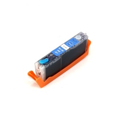 Картридж для Canon PIXMA TS8140, TS8240, TS8340, TS9140 (CLI-481PB XXL), совместимый, фото синий Photo Blue
