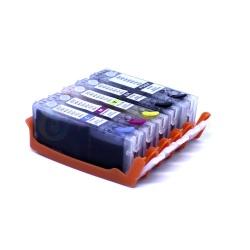 Набор совместимых картриджей для Canon PIXMA iP7240, MG5440, MG5540, MG6640, MG5640, MG6440, MX924, iX6840, (BPI-450/451.5.XX совместимые с PGI-450, CLI-451) 5 цветов с чипами