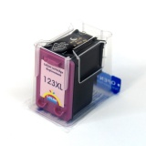 Картридж цветной 123XL увеличенный для HP DeskJet 2130, 2620, 3630, ENVY 4513, OfficeJet 4650, 5220 (F6V16AE, F6V18AE), color, совместимый