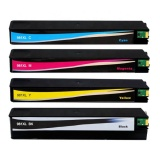Картриджи для HP PageWide 586dn, 586f, 586z, 556dn, 556xh, E58650dn, E58650z (совм. 981X, L0R12A, L0R09A, L0R10A, L0R11A) неоригинальные, одноразовые, увеличенный объём XL, комплект 4 цвета