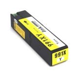 Картридж для HP PageWide Pro 777z, 772dn, 750dw, Color 774dn, 755dn, 779dn (совм. 991X M0J82AE) неоригинальный, одноразовый, увеличенный объем 260 мл, жёлтый Yellow
