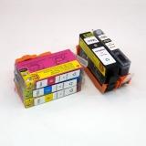 Картриджи для HP Photosmart 7510, B109C, C5383, C310B, C6383, D5463, C309H, CN503C, B109Q, C410C, C309C, B8553, C310C, C310A, CQ877C, Q8433C, CQ521C (совм. 178), неоригинальные, 5 цветов