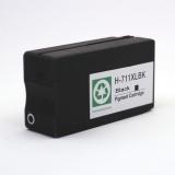 Картридж чёрный для HP Designjet T120, T125, T130, T520, T525, T530 (под HP 711, 711XL Black), неоригинальный, на базе корпуса оригинального картриджа