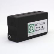 Картридж чёрный для HP Designjet T120, T125, T130, T520, T525, T530 (под HP 711, 711XL Black), неоригинальный, на базе оригинального корпуса