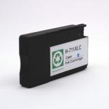 Картридж голубой для HP Designjet T120, T125, T130, T520, T525, T530 (под HP 711 Cyan), неоригинальный, на базе корпуса оригинального картриджа