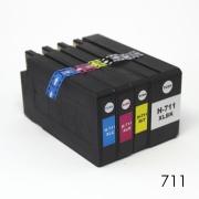 Комплект совместимых картриджей для HP Designjet T120, T125, T130, T520, T525, T530 (под HP 711), неоригинальные