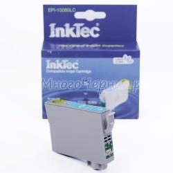 Картридж для Epson Stylus Photo P50, PX720WD, PX820FWD, RX585, PX650, PX660, PX700W, R285, RX560, R360, R265, RX685, PX710W, PX800FW, PX810FW  совместимый светло-голубой InkTec EPI-10080LC (T0805) Light Cyan