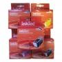 Комплект картриджей для Canon MP520, MP510, iP3300, iP3500, iX4000, MX700, iX5000 4 штуки, неоригинальные (совместимые)