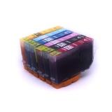 Комплект картриджей для Canon PIXMA iP6700D, Pro9000, iP6600D cовместимые, 6 штук