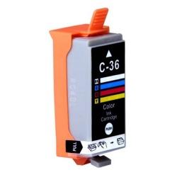 Картридж для Canon PIXMA iP100, iP110, mini260 (совм CLI-36), четырёхцветный Color, совместимый