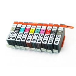 Картриджи для Canon PIXMA PRO-10 (совм. PGI-72), совместимые, комплект 10 цветов